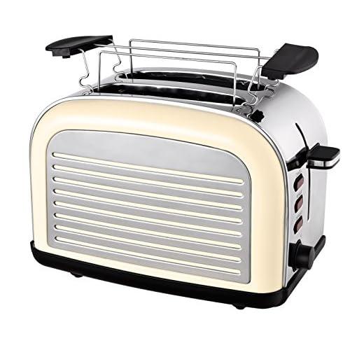 TKG TO 2500 Grille-pain rétro Crème 1050 W