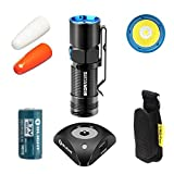 Bundle: Olight S10R II 500 Lumens Rechargeable Variable-Output Side-Switch LED Flashlight With Olight Rcr123a Batttery and 2x Traffic Wand With SKYBEN Holster
