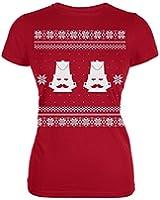 Nutcracker Ugly Christmas Sweater Red Juniors T-Shirt