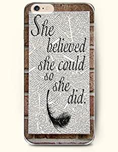 SevenArc Phone Shell New Apple iPhone 6 case 4.7' -- She Believed She Could So She Did