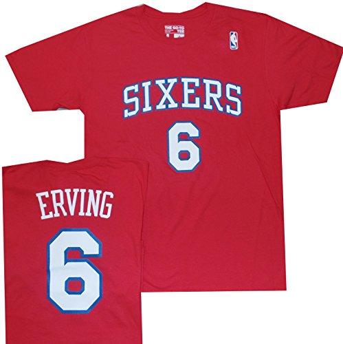 Amazon.com  Philadelphia 76ers Sixers Julius Erving 1983 Throwback Red Shirt  (Large)  Clothing 40abbec26