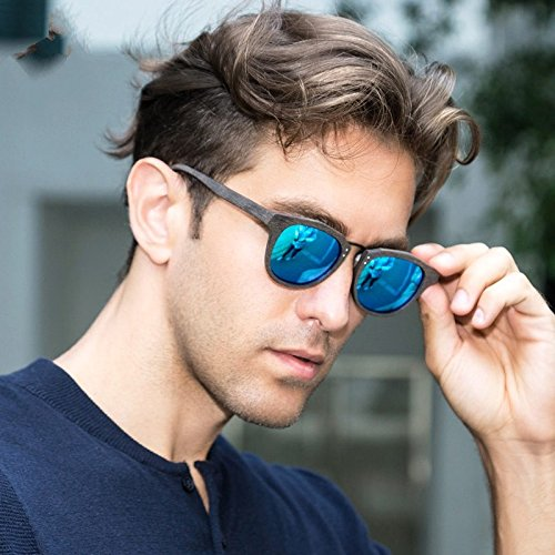 Sol C86 Gafas Unisex BLUE Sol De Similar Gafas De C19 Madera Polarizadas De Acetato De TIANLIANG04 Retro Amarillo 5t6qwdt