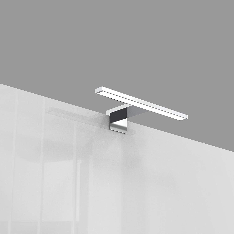 IP44 Resistente al Agua ORNO Nortes Apliques Para Espejos De Ba/ño LED 30cm Plateado 5W 300lm 4000K