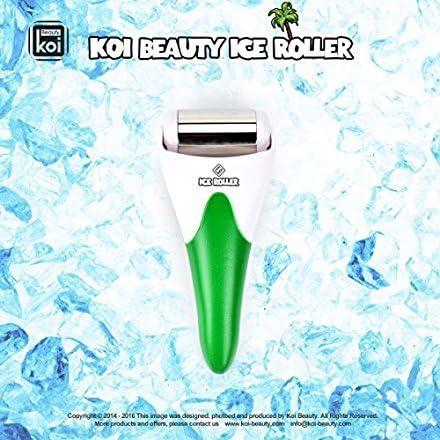 Koi Beauty Rodillo de hielo de acero inoxidable para cara y cuerpo ...