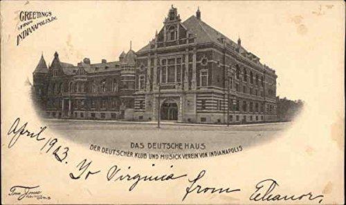 das-deutsche-haus-indianapolis-indiana-original-vintage-postcard