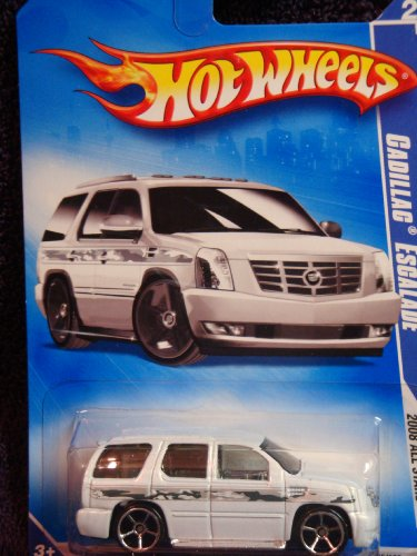 - Hot Wheels Detailed Diecast Cadillac Escalade White FTE Scattered Chrome 1:64 Scale