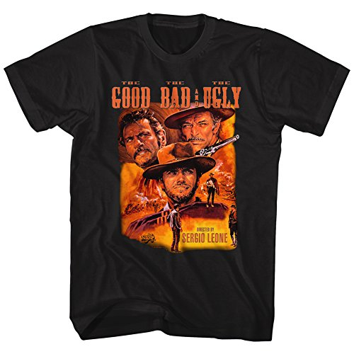 John Wayne Color Group Good Bad Ugly Bad Western Movie Poster Adult T-Shirt