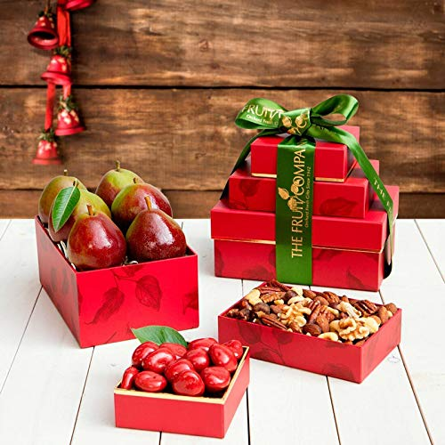 Delicious Delights Basket (Pearfully Yours Mini Gift Tower - The Fruit Company)