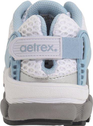 Aetrex Femmes Edge Fashion Sneaker Argent / Bleu Clair