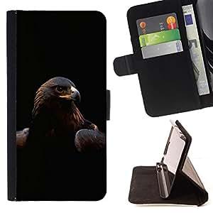 - Majestic Eagle Hawk Bird/ Personalizada del estilo del dise???¡¯???¡Ào de la PU Caso de encargo del cuero del tir???¡¯????n del s - Cao - For Samsung Ga