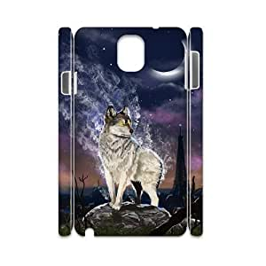 case Of Gray Wolf 3D Bumper Plastic customized case For samsung galaxy note 3 N9000