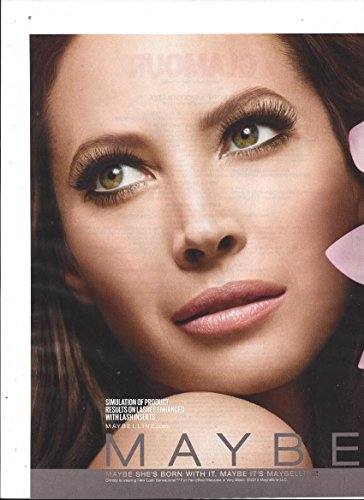 **PRINT AD** With Christy Turlington For 2015 Maybelline Lash Sensational Products