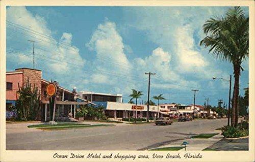 Ocean Drive Motel and Shopping Area Vero Beach, Florida Original Vintage - Shopping Vero Beach