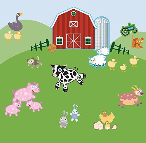Farm Animal Wall Decals -Peel & Stick Baby Room Decor Stickers