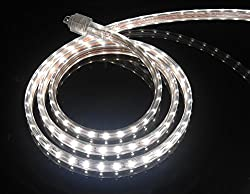 Cbconcept Ul Listed 65 Feet 7200 Lumen 4000k Soft White Dimmable 110 120v Ac Flexible Flat Led Strip Rope Light 1200 Units 3528 Smd Leds Indoor Outdoor Use Accessories Included Ready To Use