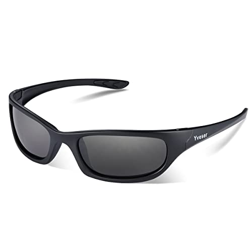 Yveser Polarized UV400 Sports Sunglasses for Man & Woman - Baseball Running Cycling Fishing Driving Hiking Ski Golf Yv148