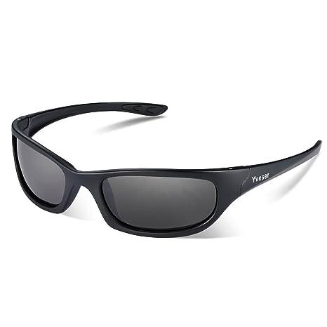 Yveser UV400 Occhiali da Sole Uomo Sportivi Polarizzati per Baseball Corsa  Ciclismo Pesca Escursioni Sciare Golf 2ee9f377e4
