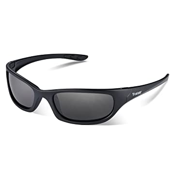 1309db32126 Yveser Polarised UV400 Sports Sunglasses for Men   Women - Baseball Running  Cycling Fishing Driving Hiking