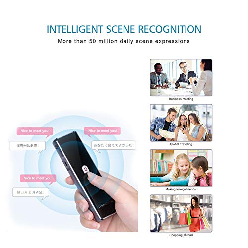 Mini Smart Language Translator Device, 40 Languages Real-time Speech/Text Translation Device with APP for International Travel Business Language Study English Chinese French German by TEEPAO (Image #4)