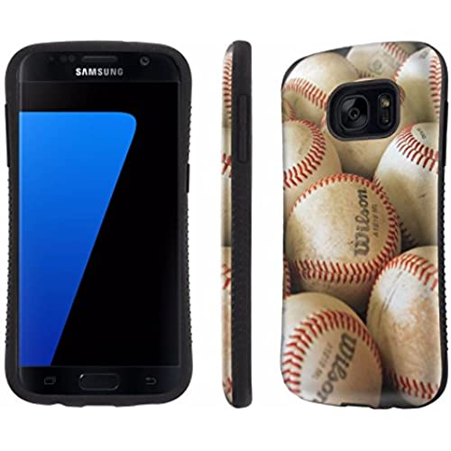 Galaxy [S7] Tough Designer Case [SlickCandy] [Black Bumper] Ultra Shock Absorbent - [BaseBall] for Samsung Galaxy S7 / GS7 Sales