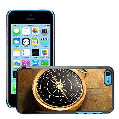 Premio Sottile Slim Cassa Custodia Case Cover Shell // V00001981 Compass Map // Apple iPhone 5C
