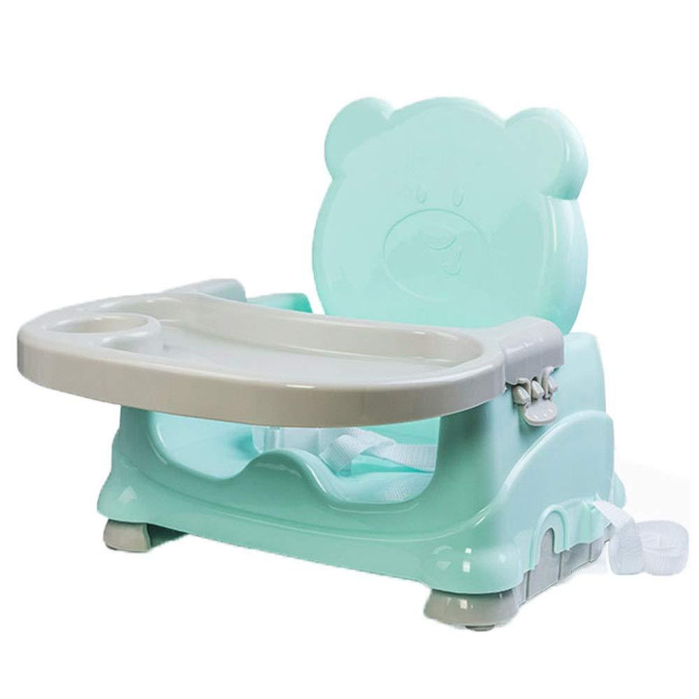 赤ちゃん ハイチェア子供 椅子 座席ハイチェア高さ折りたたみ式調整可能なベビーブースターポータブル取り外し可能トレイ安全ベルト安定した滑り止め金庫快適でベビーキッズ幼児6ヶ月以上のお子様に最適 (色 : 青, サイズ : 40*20*30cm) 40*20*30cm 青 B07TNYXYJ6