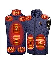joyvio Elektrisch verwarmd vest voor dames en heren, USB-opladen Verwarmde kleding Warm, wasbaar winterverwarmd jack voor buitenrijden Skivissen Motor