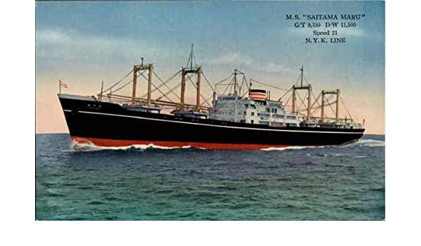 Amazon com: M  S  Seta Maru N Y K  Line Boats Ships Original Vintage