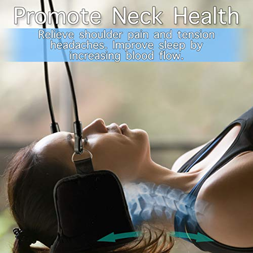 Hammock for Neck Pain Relief Bundle Set – Includes Neck Traction Device + Resistance Band + Stretching & Mobility Digital Download | Cervical Neck Relief Hammock | Portable Head & Neck Sling Stretcher by Tephran (Image #2)