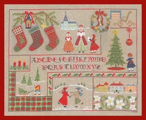 クロスステッチ刺繍キット 2683 Tableau Abecedaire Noel クリスマスの風景 B00397JRQY