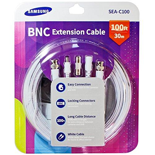 (Samsung SEA-C100 Genuine 1080p BNC Power Cable 100ft w/ Coupler Compatible with SDH-C75100, SDH-C74040, SDH-B73040, SDH-B73045)
