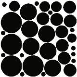 34 BLACK POLKA DOTS..WALL STICKERS DECALS ART DECOR
