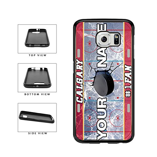 BleuReign(TM) Personalized Custom Name Hockey Team License Plate Calgary Phone Case TPU RUBBER SILICONE Phone Case Back Cover For Samsung Galaxy (Calgary Flames Hybrid)