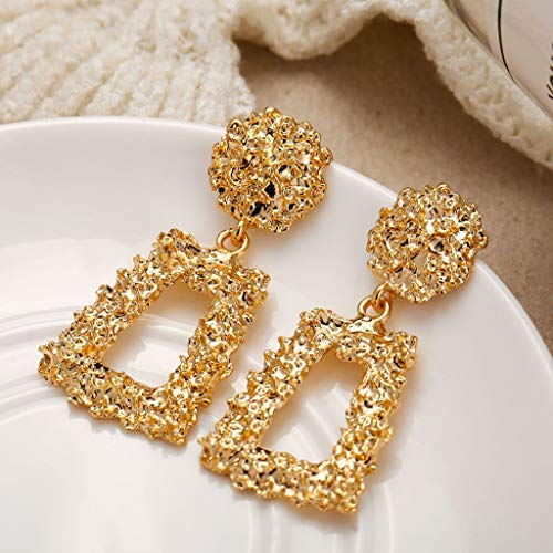 Sinwo Women Elegant Earrings Charm Boho Statement Big Geometric Drop Dangle Stud Earrings (L) ()