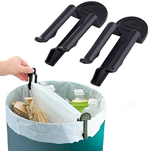 itchen 10 Pieces Garbage Basket Waste Can Trash Bag Clip ()