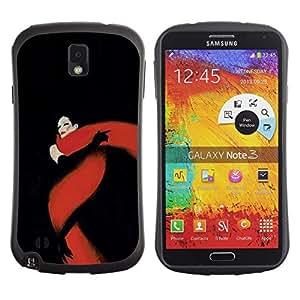 Suave TPU GEL Carcasa Funda Silicona Blando Estuche Caso de protección (para) Samsung Note 3 / CECELL Phone case / / Black Red Fatal Glamorous /