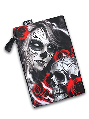 Liquorbrand Eternal Bliss Sugar Skull Woman Cosmetic Unisex Tattoo Travel Bag by Liquorbrand