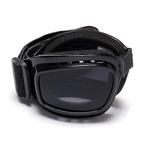 Hzjundasi Occhiali da sole,Pieghevole Occhiali da Motociclo Maschera Sci Snowboard Militare Tattico Occhiali per Uomini & Donne