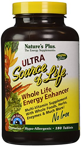 Ultra Source Of Life With Lutein-No Iron - 180 - Tablet by Nature's Plus