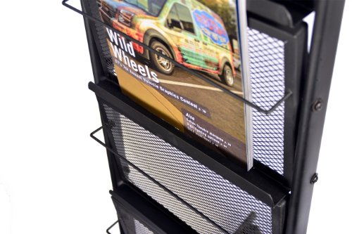 6 Pocket Mobile Literature Display Rack (Small) by Signworld (Image #1)