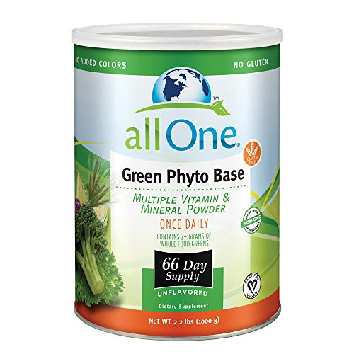 All One Vitamins - ALL ONE Green Phyto Base Multiple Vitamin and Mineral Powder, Unflavored, 66 Servings
