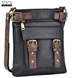MMK Collection Fashion Crossbody Bag~Messenger Purse for Women~Designer Fashion handbag (MA-09-6333-1-BK)