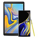 Samsung Galaxy Note 9 Factory Unlocked Phone with 6.4'' Screen and 128GB, Ocean Blue with Galaxy Tab A, 10.5'', Black
