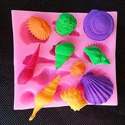 CTKcom Sea Shell Candy Molds, Chocolate Molds, Silicone Molds, Soap Molds, Silicone Baking Molds