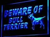 ADV PRO i836-b Beware of Bull Terrier Dog Decor NEW Light Sign