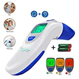 Baby, Children's, Adult Ear and Forehead Digital Thermometer - Temporal Electronic Infrared, Dual F & C Temperature Mode, Fast 1 Second...