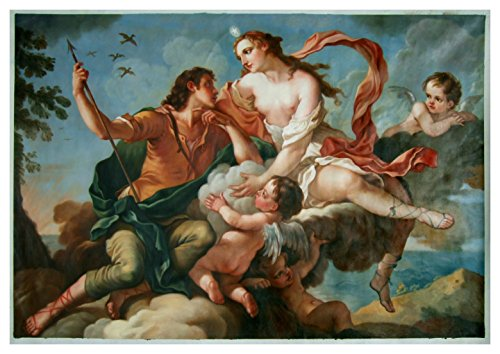 Various Artists Venus and Adonis - Charles Joseph Natoire hand-painted oil painting reproduction,living room wall classical religion art,nude woman figure (36 x 51 in.)
