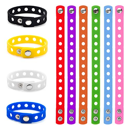 GOGO Adjustable Silicone Wristband Bracelet for Fit Shoe Charms Adult & Kid Wholesale for Party Gift-Kid Assorted-60 PCS