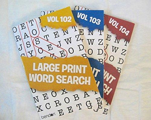 "Download Set of 3 Large Print Word Search Books 3/8"" Print PDF"