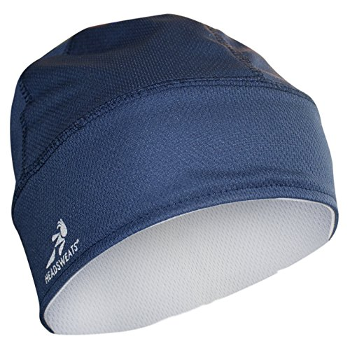 Headsweats Reversible Knit Beanie, Navy/White, One Size ()